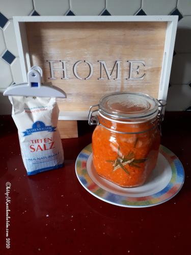 fermentierte Rosmarinkarotten