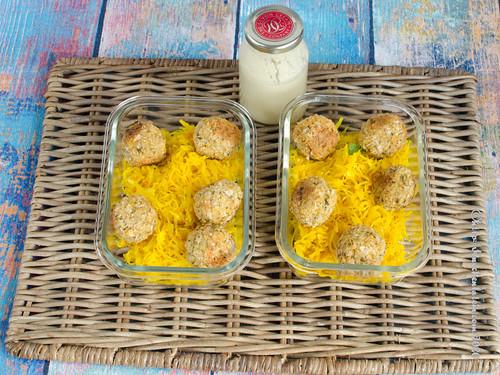 Backofenfalafel mit goldenem Sauerkraut (2)
