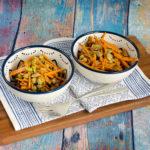 Kichererbsensalat mit Karotten und Pistazien