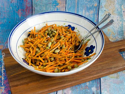 Kichererbsensalat mit Karotten und Pistazien – Ensalada de gabanzos con zanahorias y pistachos