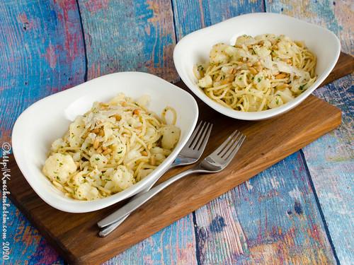 Blumenkohl-Pasta aglio e olio
