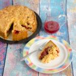 Rhabarberkuchen mit Polenta