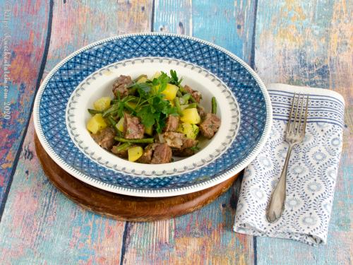 Moppelkotze - Eintopf mit grünen Bohnen