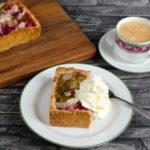 Stachelbeerkuchen mit Mandel – Krusbärspaj med mandel