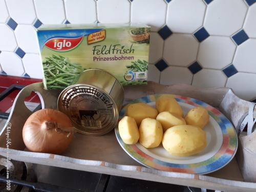Zutaten Moppelkotze - Eintopf mit grünen Bohnen