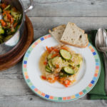 Zucchini mit Bulgur in Olivenöl - Zeytinyağli kabak basti