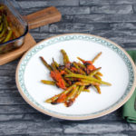 Green beans, baked  with olives