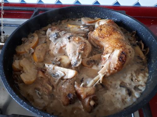 Calvados-Hähnchen
