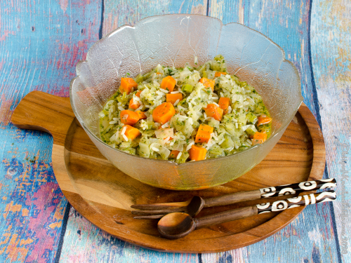 Lauch-Karotten-Ragout mit Dill
