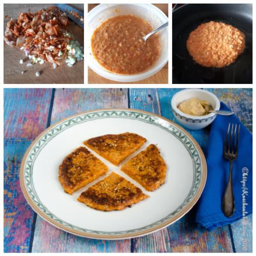 Kimchi Pancakes Collage