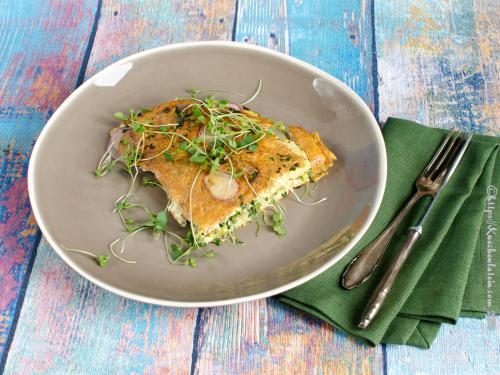 Mustard Microgreen Omelette