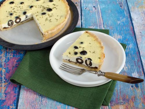 Ziegenkäse-Oliven-Quiche