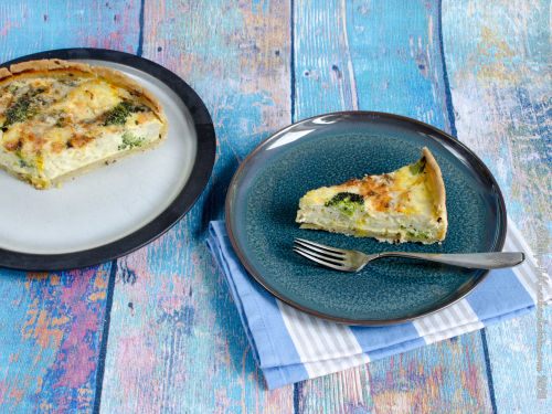 Blumenkohl-Brokkoli-Tarte mit Danablu