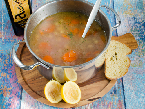 Weiße Bohnensuppe - Lefkí fasoláda