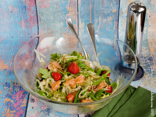 Strawberry Fennel Salad with Salmon