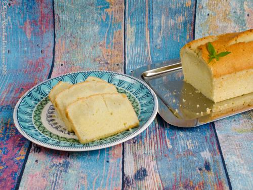 Zitronenverbene-Kuchen mit dem Duft des Himmels